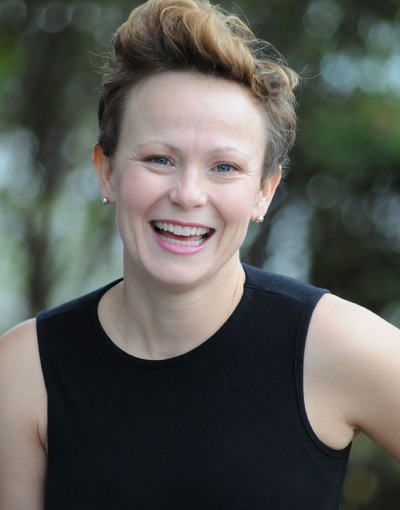 A photo of Andrea Gilks, a trainer at Forward Motion Yoga.