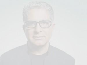A near-opaque photo of a man