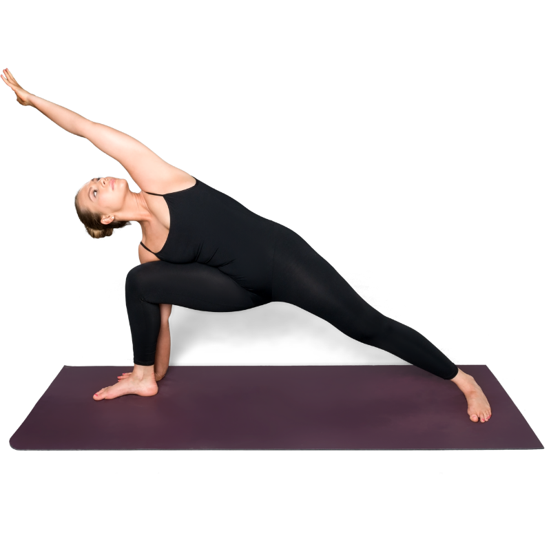 Woman at Forward Motion Yoga in a yoga pose