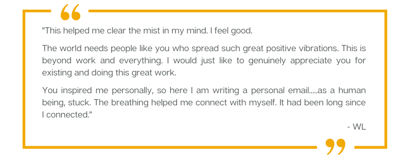 A testimonial from WL for Forward Motion Yoga.