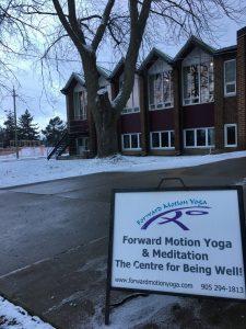 Forward Motion Yoga studio in Markham.