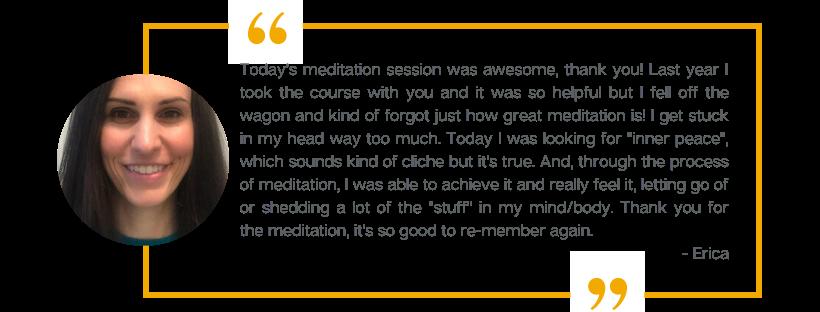 Testimonial from Erica, a Forward Motion Yoga customer.